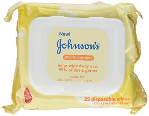 Johnsons Baby Hand And Face Wipes, 25-Count