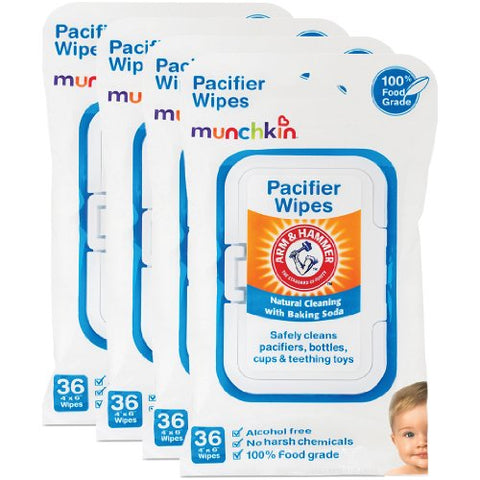 Munchkin Arm &Amp; Hammer Pacifier Wipes (4 Packs Of 36 Wipes Each)