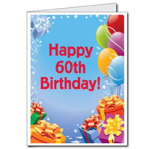 Victorystore Jumbo Greeting Cards Giant 60Th Birthday Card Presents Amp Balloons 2