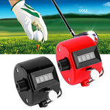Xbes 4 Digit Manual Hand Tally Counter Golf Clicker Lap Counter Lap Tracker With Finger Ring
