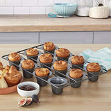 Chicago Metallic Professional 12-Cup Non-Stick Mini-Popover Pan, 16-Inch-By-10.75-Inch