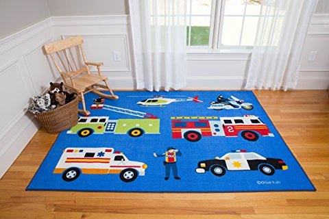 Wildkin 5X7 Foot Rug, Features Durable Design, Vibrant Colors, And Skid-Proof Backing, Coordinates With Other Room Dcor, Olive Kids Design  Heroes