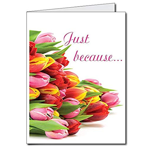 Victorystore Jumbo Greeting Cards: Giant Thinking Of You Card (Just Because/Tulips), 2' X 3' Card With Envelope