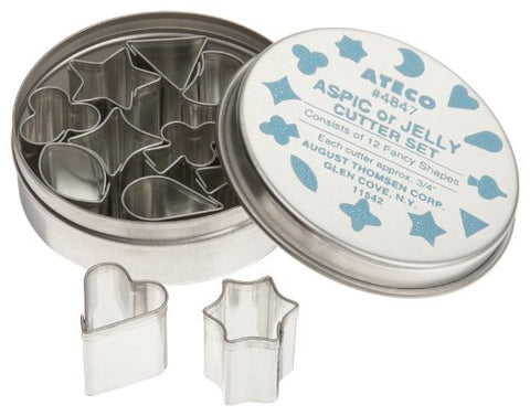 Ateco 3/4-Inch Aspic Cutters, Set Of 12