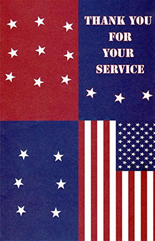 Patriotic Thank You For Your Service Greeting Cards In A Bulk