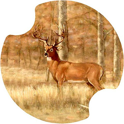 Thirstystone Whitetail Deer Car Cup Holder Coaster,