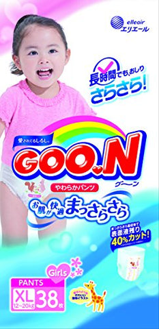 Elleair Goo.N 38 Sheets Fit Pants For Big Girl, Soft Goon