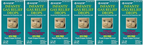 Newborns, Infants &Amp; Children Gas Relief Simethicone 20 Mg/0.3Ml Drops Dye Free Generic For Mylicon 1 Oz (30Ml) Total 6 Oz
