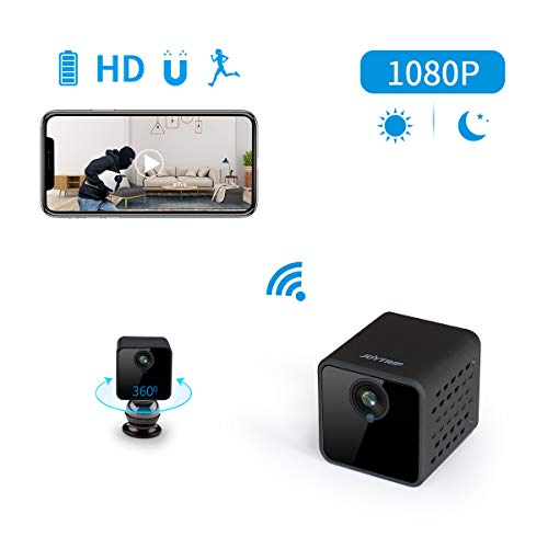 Spy Hidden Camera Wifi Joytrip Wireless Hd 1080P Large Capacity Battery Spy  Hidden Cam Home Security Nanny Cam With Cell Phone App/Motion