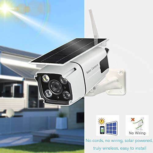 Solar Powered Wireless Security Camera- Wifi Ip Solar Cctv Camera Built In  Rechargeable Battery, Sd Card Storage, Ip67 Waterproof, Remote App, Pir