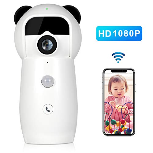 Jbonest Wifi Camera Smarthome Ip Surveillance Camera With Night Vision  Two-Way Audio For Baby/Pet Monitor Support Ios, Android App