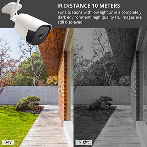 Smtaly Outdoor Wireless Security Camera 1080P,Hd Wifi Surveillance Camera  With 65Ft Night Vision 2-Way Audio Motion Detection Ip 66 Waterproof Home