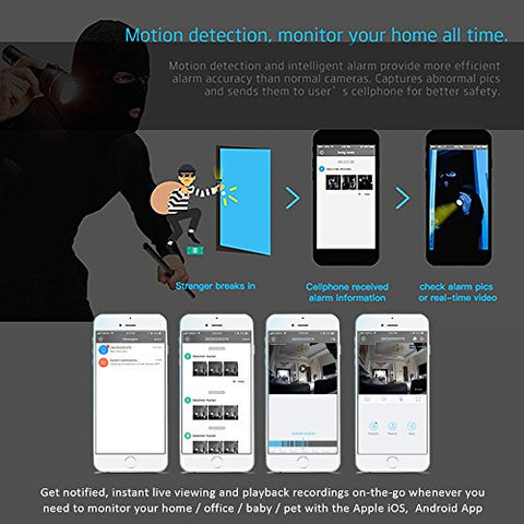 Clever Dog Wifi Security Camera Hd 960P With Wide Angle, Two-Way Audio, Sd  Card Alarm Recording, Cloud Storage, Ai Motion Alerts With Iphone, Android