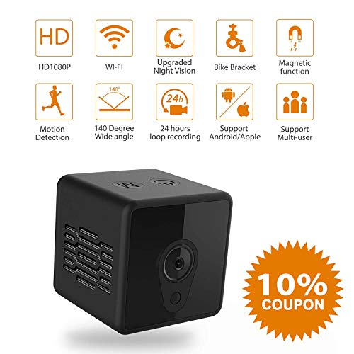 Mini Spy Camera Wifi, Jayol 1080P Spy Hidden Camera Upgraded Night Vision  And Motion Detection Spy Cam, Portable Nanny Cam For Home/Office Security