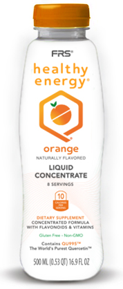 FRS Healthy Energy Orange Concentrate 16.9 oz Bottle - WHAT FUELS YOU®