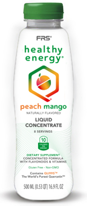FRS Healthy Energy Peach Mango Concentrate 16.9 oz Bottle - BE MORE®