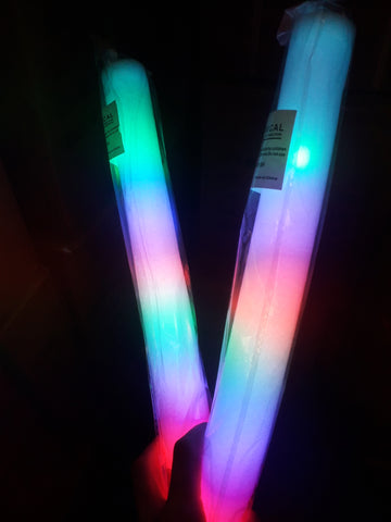 Foam Baton with 5 Leds Multi Coloured (Pack of 72 - works out £1.00 each)