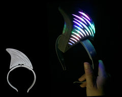 **CLEARANCE BARGAIN**New Hot Selling Item*Light Up Shark Headband(Pack of 72 - Works Out £1.00 Each inc Vat) - NO RETURNS