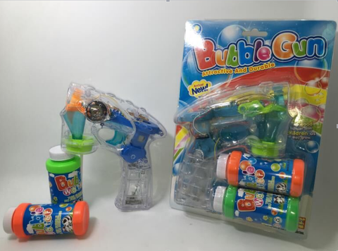 Clear Bubble Gun with Flashing L.E.D.S.(Packed in 48s)(Works out £2.00 each inc VAT)