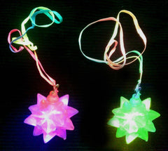 **back by popular demand** Crystal Star Flashing Necklace - Pack of 48 (£1 per necklace)