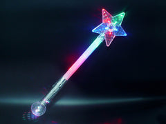 Flashing Large Star Wand with disco ball - pack of 72 (Only £1.85 each)