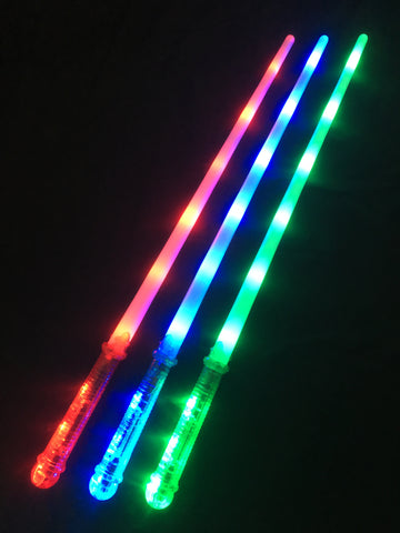 **NEW**Green, Red & Blue Sabre Sword with flashing led handle - Pack of 96 (£1.35 per sword)