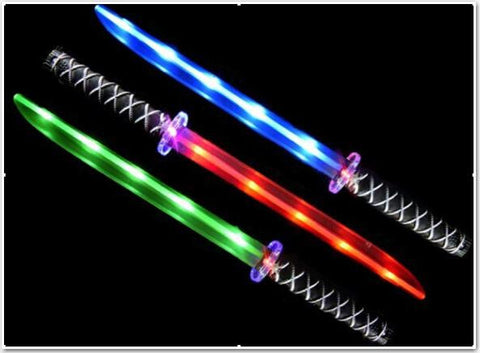 **New HOT SELLER**Ninja Sword with sound mixed cases blue, green and pink with flashing handle,(Pack of 48)(Works out £1.60 each)