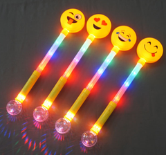 **NEW LINE**Flashing Smile Face Wand With Ball Large Pack of 48(Works out £2.00 each)