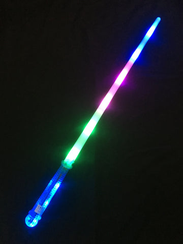 **NEW**Tri colour sword with bright blue led handle - Pack of 96 (£1.50 per sword)