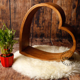 Littolo Wooden one,Heart ring photo prop for New born baby,Potography prop