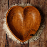 Littolo Cute  Handmade Round Heart bowl For Newborn Posing Photography Props Perfect for Newborn