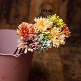 Littolo Artificial Sunflowers flowers Floral Supplies (5 sticks)