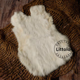 Littolo New Born Baby Layer-Rabbit Fur Layer-Layer For New Born Baby Photography(White)