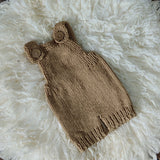 Littolo Newborn Suspander Manual Knitted Rompors-Newborn Clothes Photography Props (Khakhee)