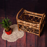 Littolo Cane Bed Rustic Original Finish Photography Props