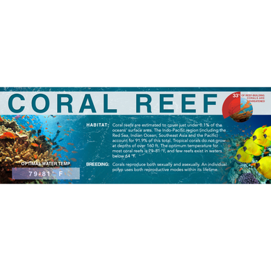 Coral Reef - Standard Aquarium Label