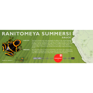 Ranitomeya summersi - Standard Vivarium Label