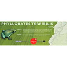 Load image into Gallery viewer, Phyllobates terribilis - Standard Vivarium Label