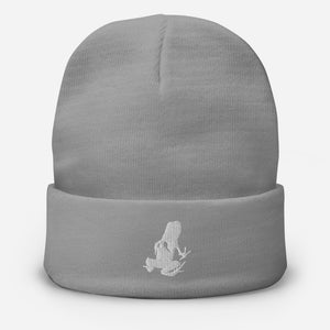 Embroidered Transporting Dart Frog Beanie