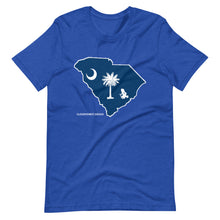 Load image into Gallery viewer, South Carolina Flag Transporting Dart Frog Short-Sleeve Unisex T-Shirt