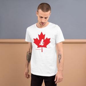 Oh Canada! Transporting Dart Frog & Maple Leaf Short-Sleeve Unisex T-Shirt
