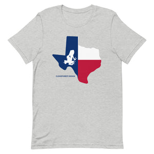 Texas State Flag Transporting Dart Frog Short-Sleeve Unisex T-Shirt