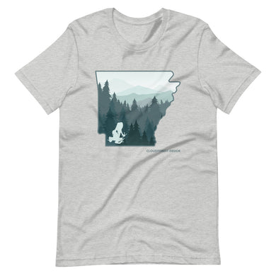 Arkansas Ozark Pine Forest Transporting Dart Frog Short-Sleeve Unisex T-Shirt