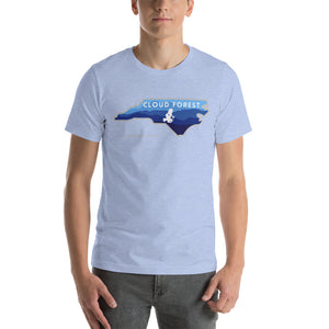 Cloud Forest North Carolina Blue Ridge Mountains Dart Frog Short-Sleeve Unisex T-Shirt