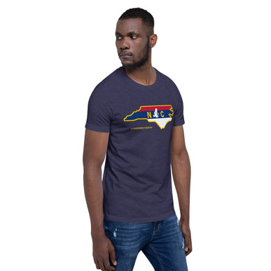 North Carolina Flag Transporting Dart Frog Short-Sleeve Unisex T-Shirt