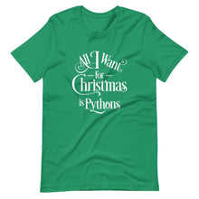 Load image into Gallery viewer, All I Want for Christmas is Pythons Short-Sleeve Unisex T-Shirt
