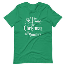 Load image into Gallery viewer, All I Want for Christmas is Monitors Short-Sleeve Unisex T-Shirt