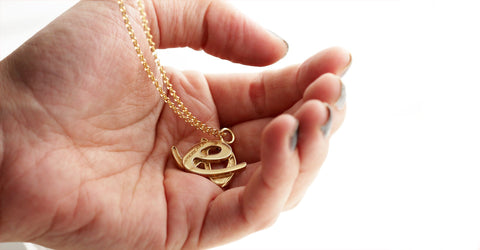 2 initial necklace- Matching couple necklaces for him and her