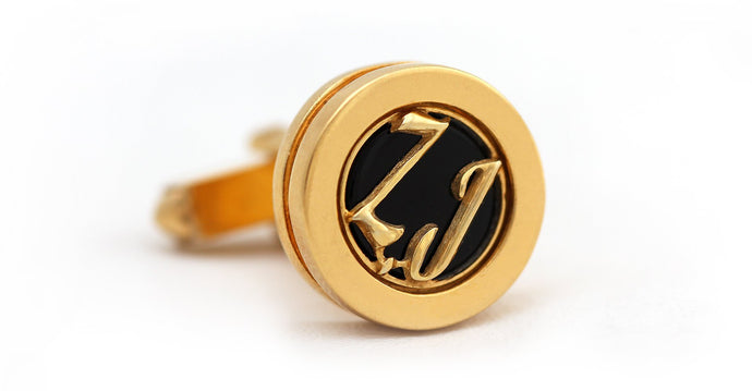 Letter cufflinks in gold or sterling silver