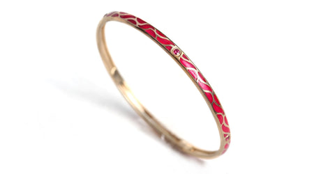 Great Wave - Ruby gold bangles for women